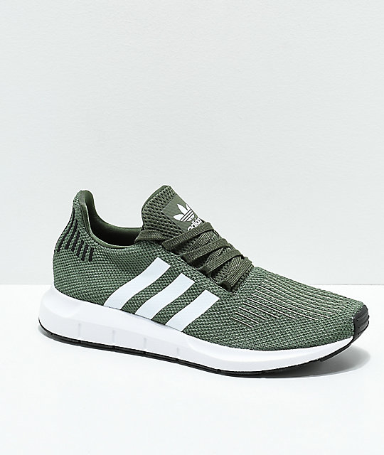 Dark Adidas Swift Black GreenWhiteamp; Shoes sdrCBthQox