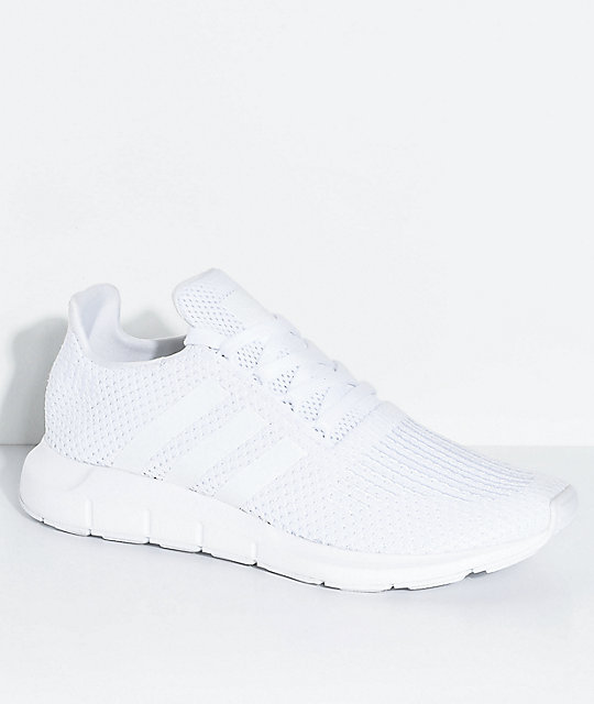 c8a81632d1f adidas Swift Run All White Shoes