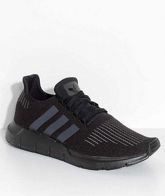 6470a92b578e adidas Swift Run Core & Utility Black Shoes   Zumiez