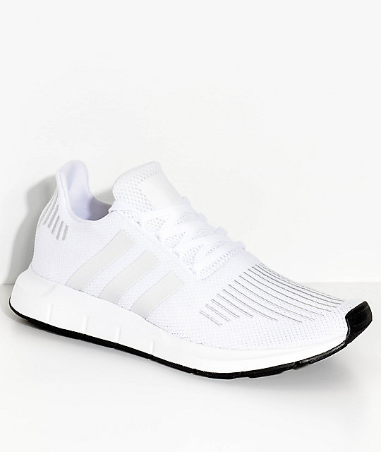 new product dac7f c0aec adidas Swift Run White and Crystal Shoes