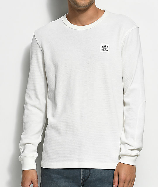 13a94ca9db7d adidas Thermal White Long Sleeve T-Shirt | Zumiez