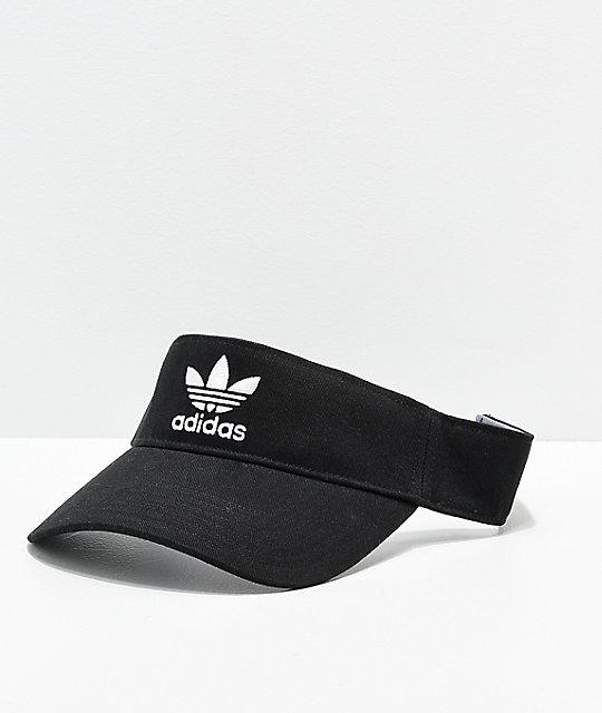 1e95455c adidas Trefoil Twill Black Visor | Zumiez