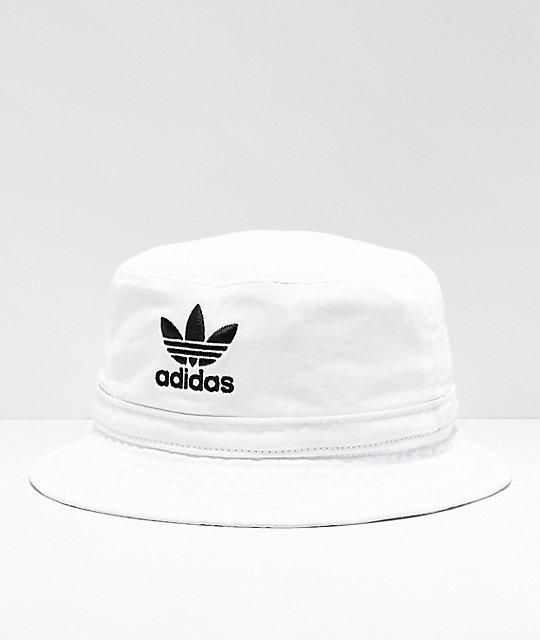 1f360340 adidas Washed White Bucket Hat   Zumiez