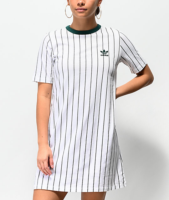 a73a572490be adidas White Stripe T-Shirt Dress | Zumiez