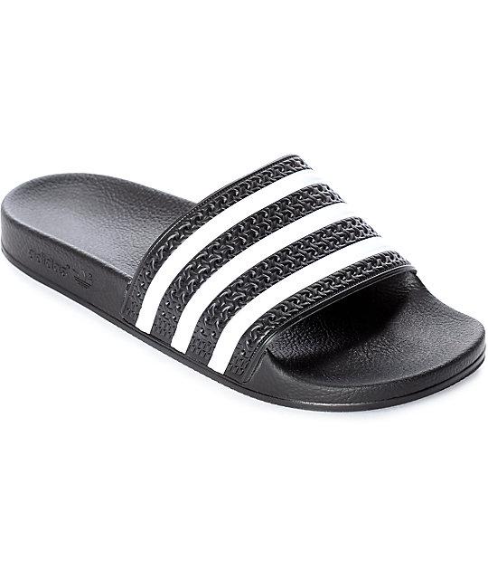 a72e560e59f adidas Women s Adilette Black Slides