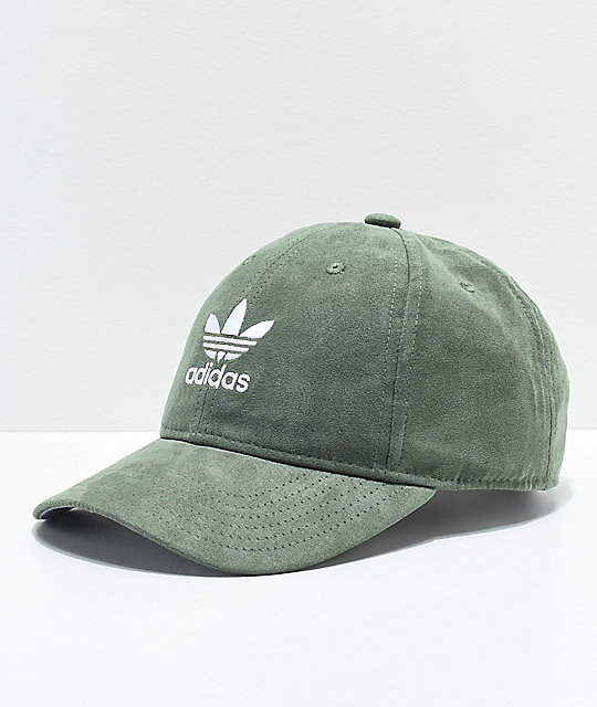 adidas Women s Original Base Green Suede Strapback Hat  cceda580f66