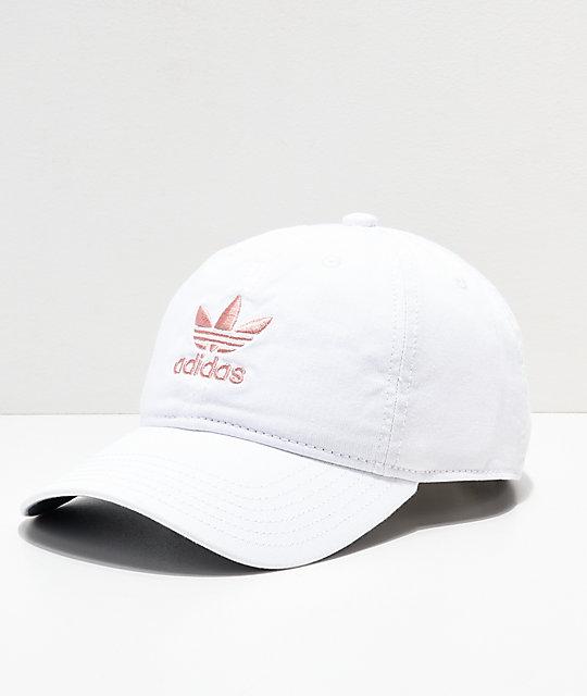 2f72b7263 adidas Women's Original White & Pink Strapback Hat | Zumiez