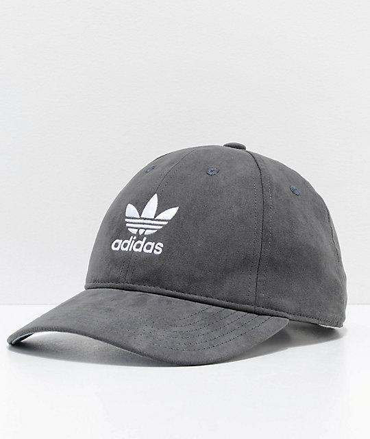 ad1434c510e489 adidas Women's Relaxed Plus Black Strapback Hat | Zumiez