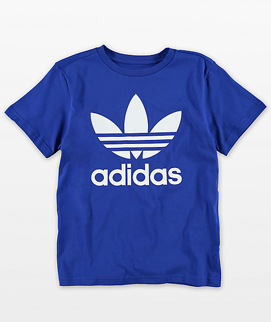 grand choix de b1019 a6cd1 adidas Youth Trefoil Blue T-Shirt