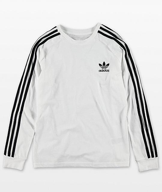 f4694b72 adidas Youth Trefoil White Long Sleeve T-Shirt | Zumiez