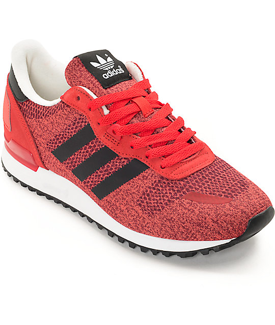 best website c8a66 e294b adidas ZX 700 IM Red, Black, & White Shoes