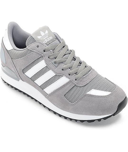 buy popular 50aa4 cd12d adidas ZX 700 Solid Grey Shoes   Zumiez