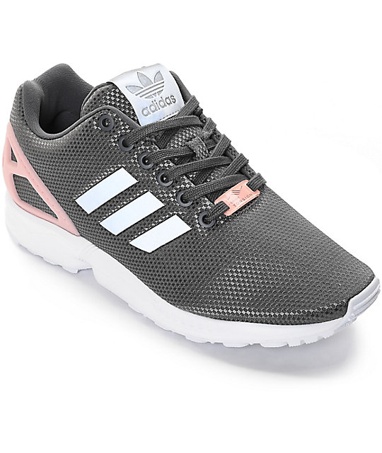 free shipping 89374 5724e adidas ZX Flux Grey Shoes