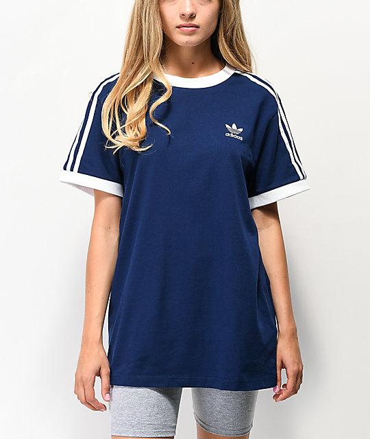 3 Camiseta Rayas De Azul Adidas Oscuro DHE9WI2