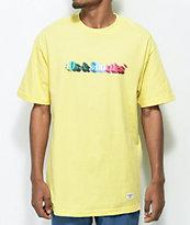 40s & Shorties 3D Text Logo Light Yellow T-Shirt