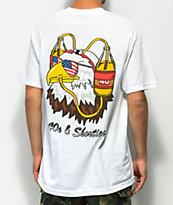 40s & Shorties Eagle Beer Helmet camiseta blanca