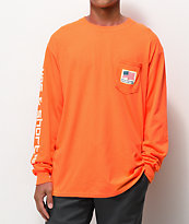 40s & Shorties Paid In The USA Orange Long Sleeve T-Shirt