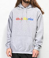 40s & Shorties Text Logo Grey Hoodie
