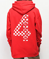 4Hunnid suadera roja con capucha a cuadros