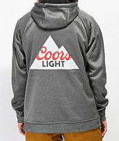 686 x Coors Light Knockout Grey Tech Fleece Hoodie