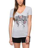 A-Lab Cat Dressed V-Neck T-Shirt