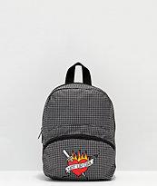 A-Lab Demi mini mochila de pata de gallo con corazón y daga