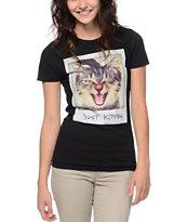 A-Lab Just Kitten Black T-Shirt