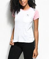A-Lab Kito Magical Unicorn camiseta rosa y blanca con bolsillo