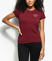 A-Lab Kito Pizza Burgundy Pocket T-Shirt