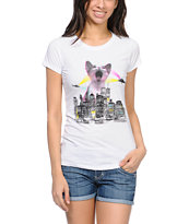 A-Lab Kitty City White Tee Shirt