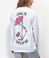 A-Lab Loves Me White Long Sleeve T-Shirt