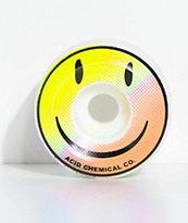 Acid Chemical Co. Smile 54mm ruedas de skate en azul y rosa