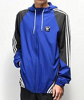 Adidas Insley chaqueta cortavientos azul, negra y blanca