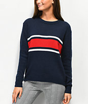 Angel Kiss Red, White, & Blue Stripe Sweater