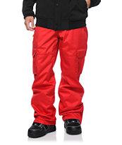Aperture Sentry Red Cargo 10k Snowboard Pants