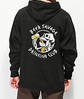 Beer Savage Bone Club Black Hoodie