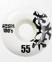 Bones 100s Natural 55mm Skateboard Wheels