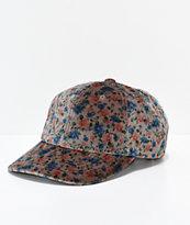 Brixton Belford Velour Floral Strapback Hat