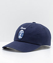 Brixton X Coors Filtered Navy Strapback Hat