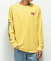 Brixton x Coors Banquet Primary camiseta amarilla de manga larga