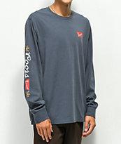 Brixton x Coors Banquet Primary camiseta de manga larga azul marino