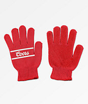 Brixton x Coors Signature guantes rojos