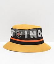 Brixton x Independent Hardy sombrero de cubo amarillo