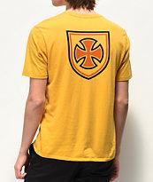 Brixton x Independent Hedge Yellow T-Shirt