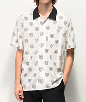 Brixton x Independent Trial Black & White Short Sleeve Button Up Shirt