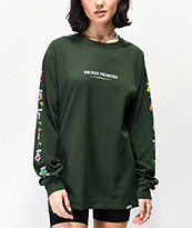 Broken Promises Feeled Guide Forest Green Long Sleeve T-Shirt