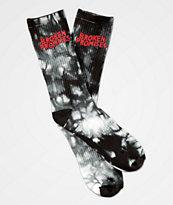 Broken Promises Wave Logo calcetines con efecto tie dye
