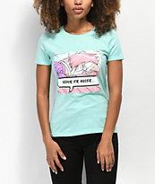 By Samii Ryan Leave Me Alone Mint T-Shirt