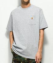 Carhartt Workwear Heather Grey Pocket T-Shirt