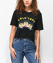 Casual Industrees x Rainier Gold Tops Black Crop T-Shirt